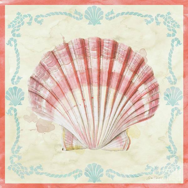 Coastal Digital Art - Sea Shells-a2 by Jean Plout