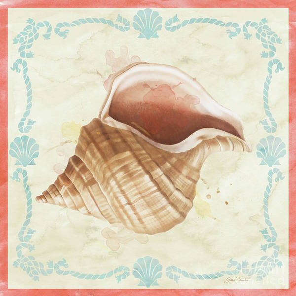 Coastal Digital Art - Sea Shells-b2 by Jean Plout