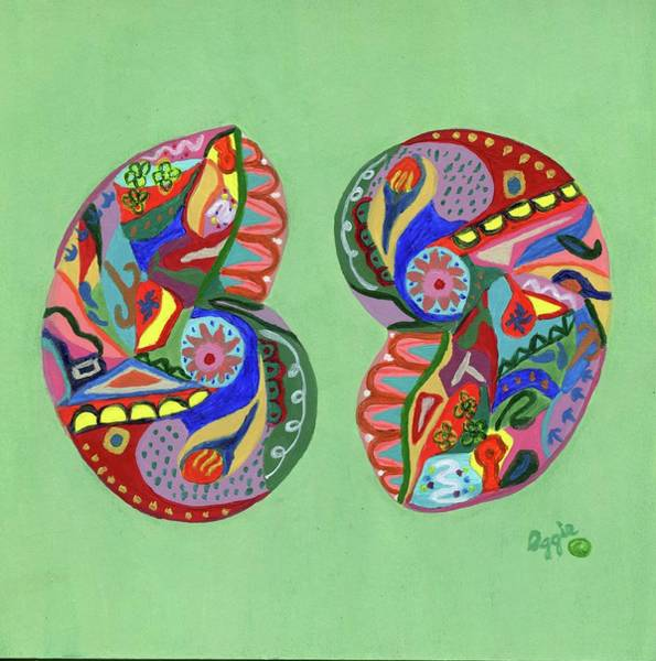 Painting - Sea Shells Yin Yang by Stephanie Agliano