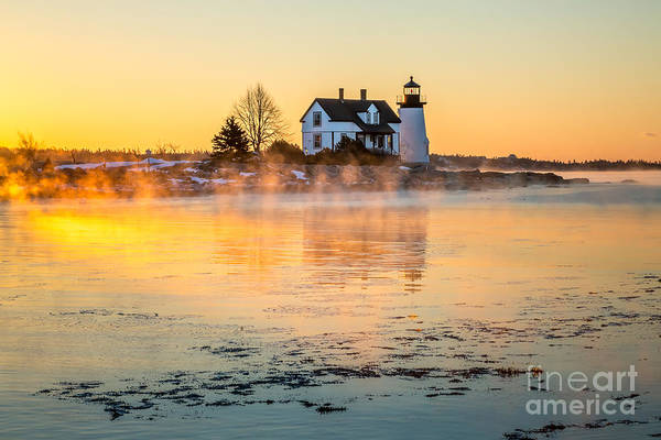 Photograph - Sea Smoke At Prospect Harbor by Susan Cole Kelly