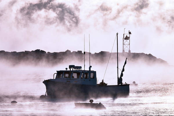 Wall Art - Photograph - Sea Smoke In Rye Harbor by Eric Gendron