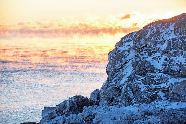 Photograph - Sea Smoke On Castle Island Marblehead Ma Sunrise 2 by Toby McGuire