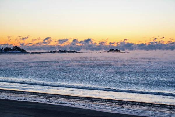 Photograph - Sea Smoke On Devereaux Beach Marblehead Ma Sunrise by Toby McGuire