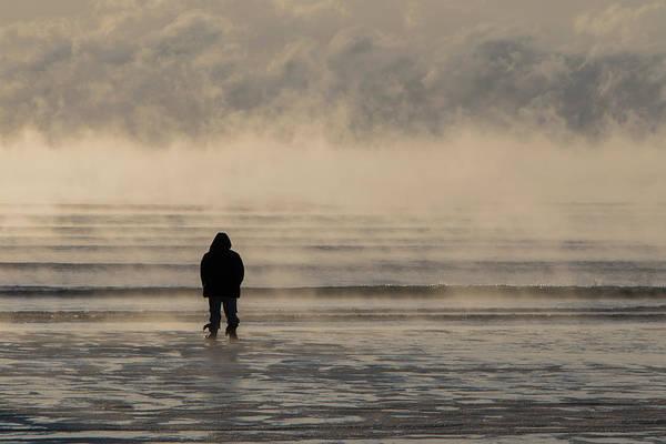 Sea Smoke Thinking Man Art Print
