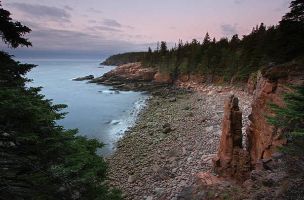 Photograph - Sea Stack At Monument Cove Maine Acadia National Park by Juergen Roth