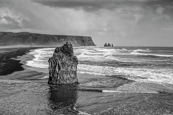 Wall Art - Photograph - Sea Stack In Vik by Jon Glaser