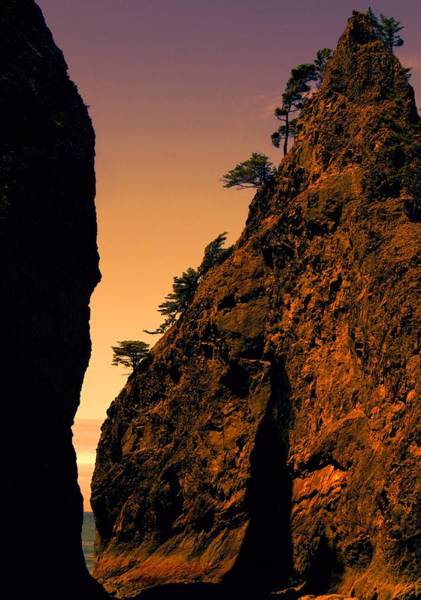 Photograph - Sea Stack Sunset by Dan Sproul