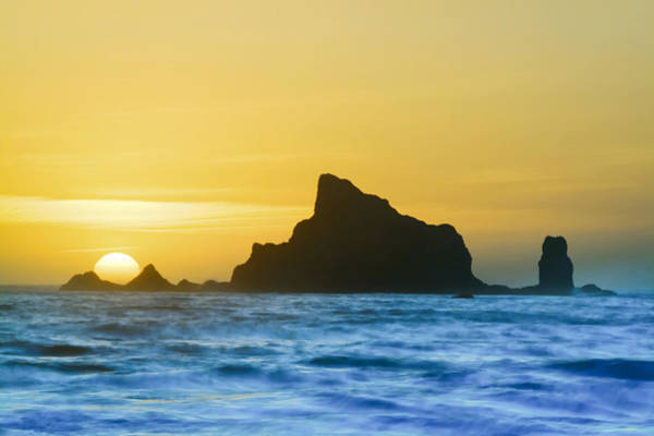 Photograph - Sea Stack Sunset by Patrick M Lynch