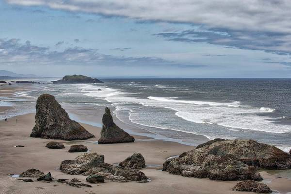 Photograph - Sea Stacks And Surf by Harold Rau