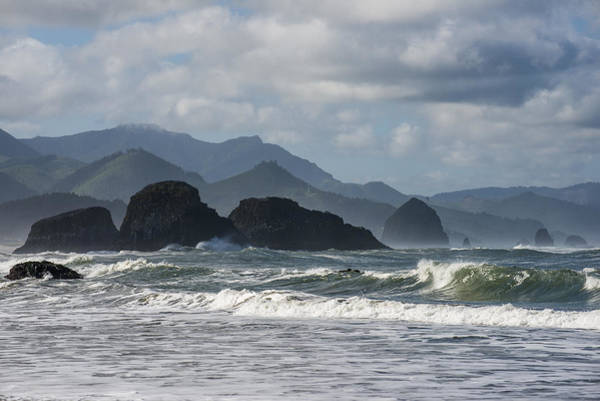 Photograph - Sea Stacks And Surf by Robert Potts