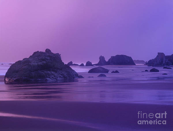 Photograph - Sea Stacks At Sunset Bandon Beach Oregon by Dave Welling