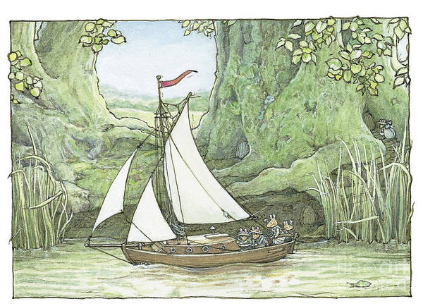 Wall Art - Drawing - Sea Story by Brambly Hedge