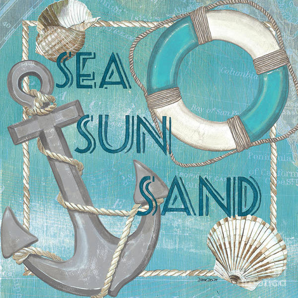 Ring Painting - Sea Sun Sand by Debbie DeWitt