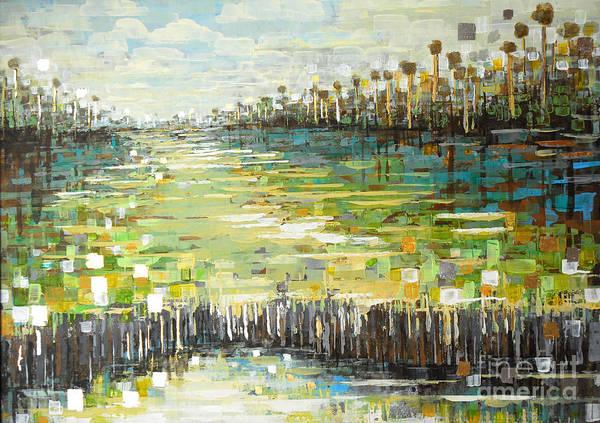 Painting - Sea Tone Glades by Kaata Mrachek