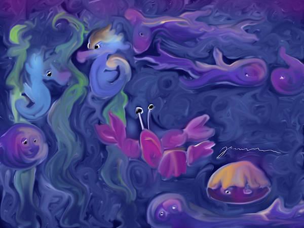 Painting - Sea Traffic by Jean Pacheco Ravinski