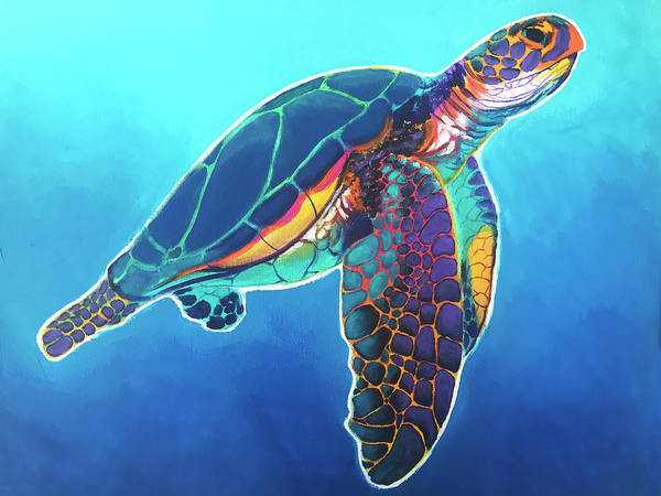 Turtle Painting - Sea Turtle by Alicia VanNoy Call