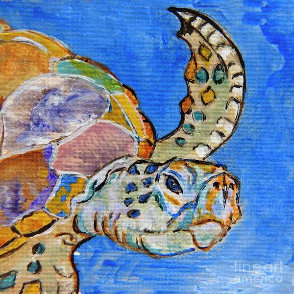 Wall Art - Painting - Sea Turtle by Ella Kaye Dickey