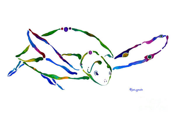 Painting - Sea Turtle Grace by Jo Lynch
