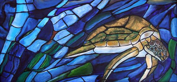 Painting - Sea Turtle I by David McGhee