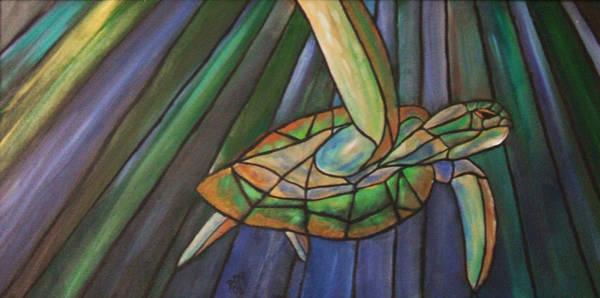 Painting - Sea Turtle II by David McGhee