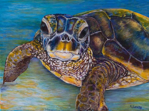 Painting - Sea Turtle by Nancy Lauby