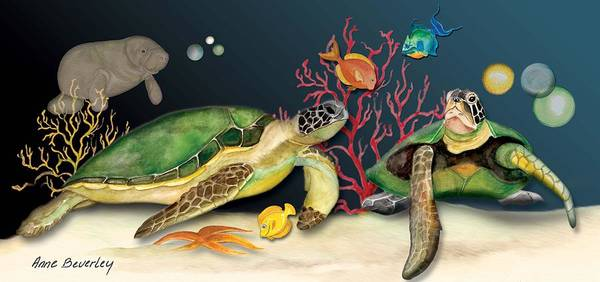 Sea Turtles Art Print