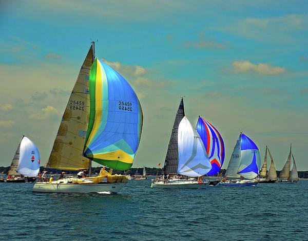 Photograph - Sea Wise, Camelot, Conundrum, Alliance, Zubenelgenubi, Chippewa, And Albacore by Randy J Heath