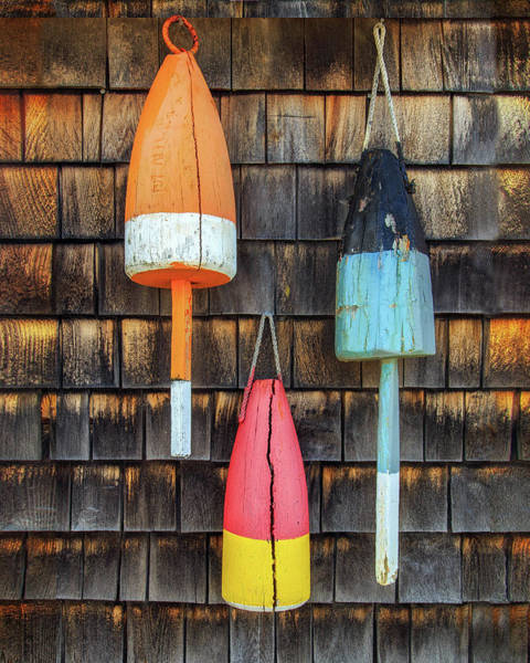 Photograph - Sea Worn Buoys by John Vose