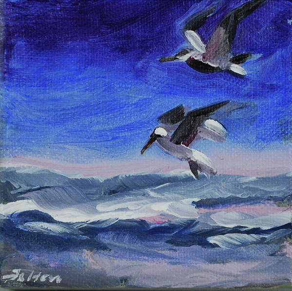 Painting - Seabirds Over The Ocean by Julianne Felton