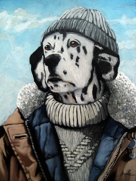 Wall Art - Painting - Seadog - Dalmation Animal Art by Linda Apple