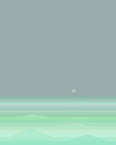 Digital Art - Seafoam - Vertical by Val Arie