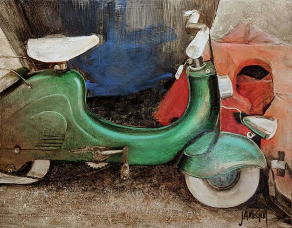 Novelties Painting - Seafoam Vespa by Jennifer Ann McGill