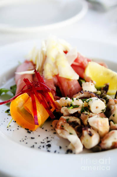 Squid Photograph - Seafood by Jelena Jovanovic