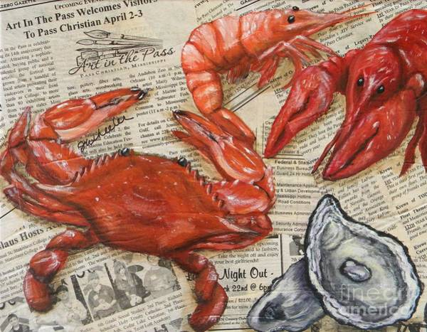 Wall Art - Painting - Seafood Special Edition by JoAnn Wheeler