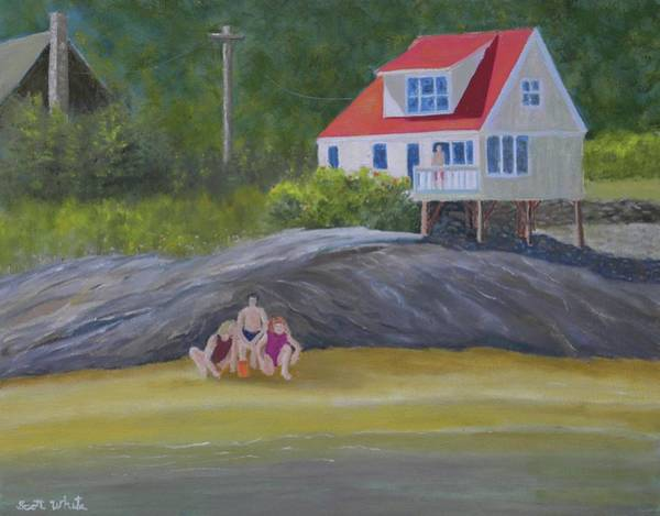 Painting - Seagrass Vacation by Scott W White