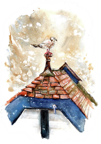 Painting - Seagull In Runswick Bay by Miki De Goodaboom