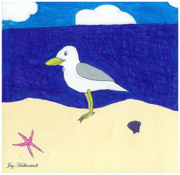 Painting - Seagull by Jayson Halberstadt