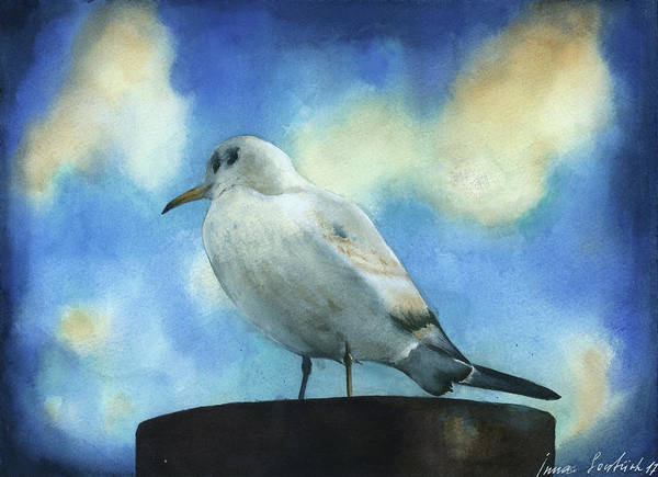 Wall Art - Painting - Seagull by Zapista Zapista