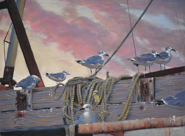 Painting - Seagull's Delight by Christopher Reid