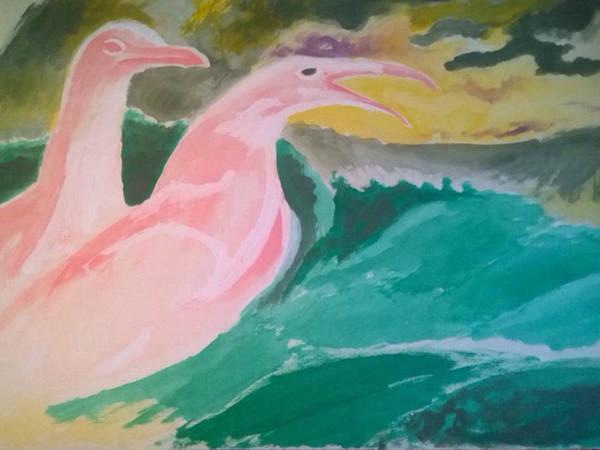 Painting - Seagulls by Enrico Garff