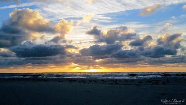Photograph - Seagulls On The Beach At Sunrise by Robert Banach