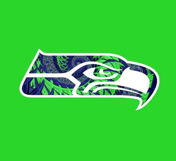 Digital Art - Seahawks Fractal by Becky Herrera