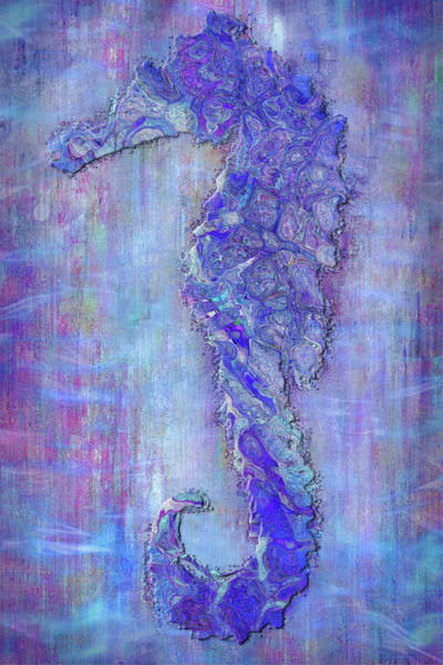 Sea Salt Painting - Seahoarse 6 by Jack Zulli