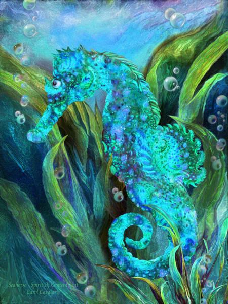Mixed Media - Seahorse 2 - Spirit Of Contentment by Carol Cavalaris