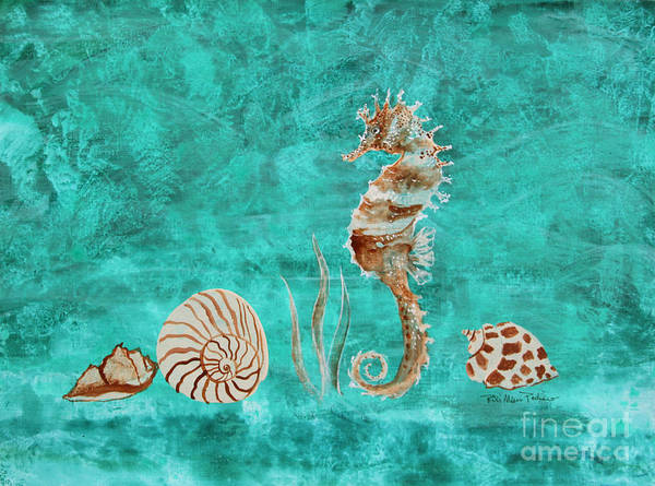 Painting - Seahorse And Shells by Robin Maria Pedrero