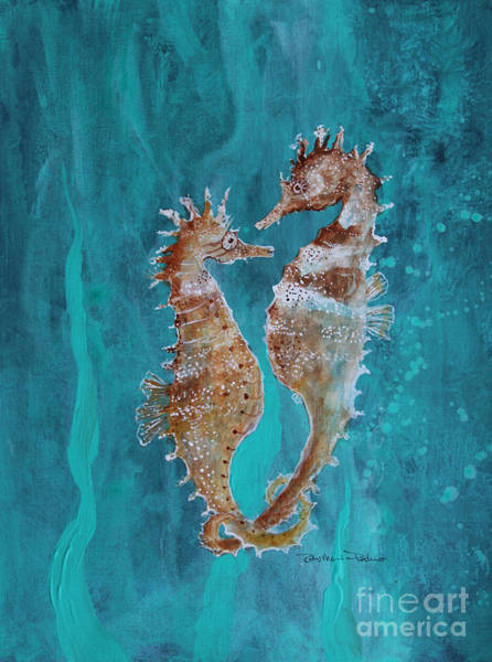 Painting - Seahorse Friends by Robin Maria Pedrero