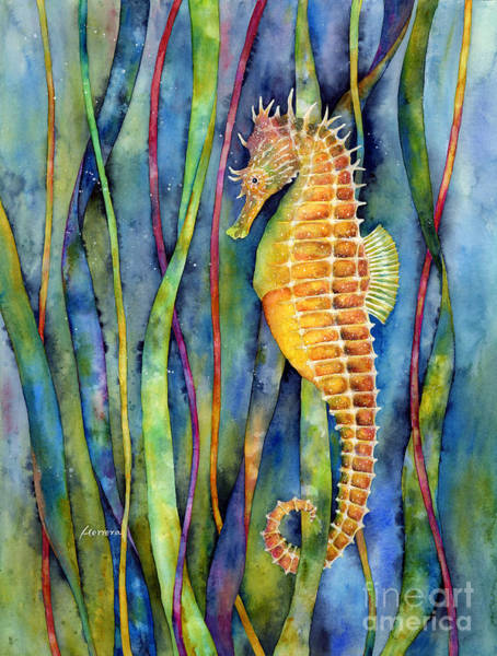 Grass Painting - Seahorse by Hailey E Herrera