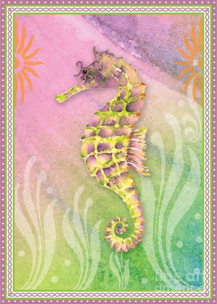 Painting - Seahorse Violet by Amy Kirkpatrick