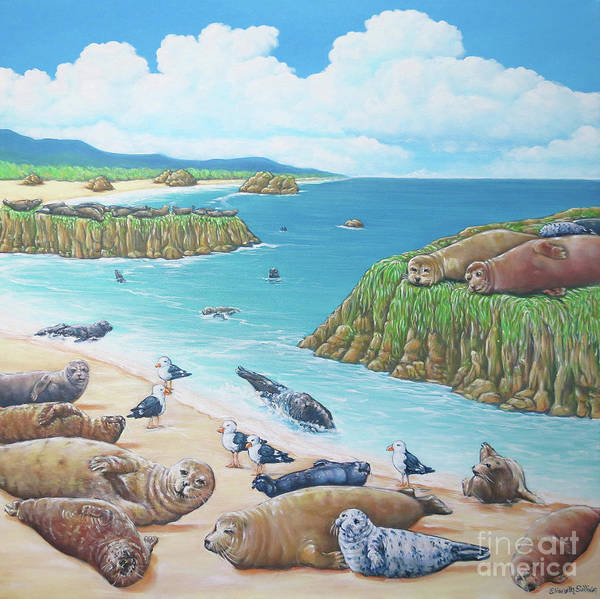 Painting - Seal Sanctuary  by Elisabeth Sullivan