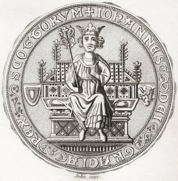 Toomer Wall Art - Drawing - Seal Of John Balliol, C. 1249 by Vintage Design Pics